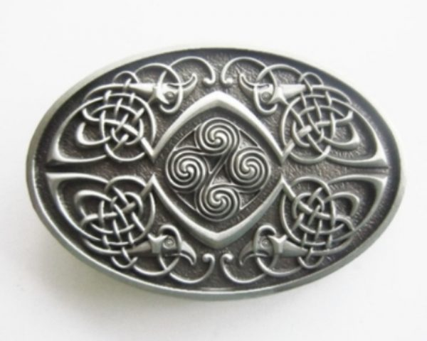 oval celtic phoenix belt buckle