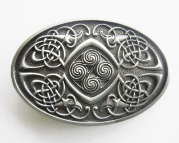 Celtic Knot Oval Small Belt Buckle