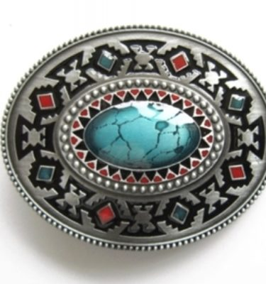 oval enamel celtic belt buckle