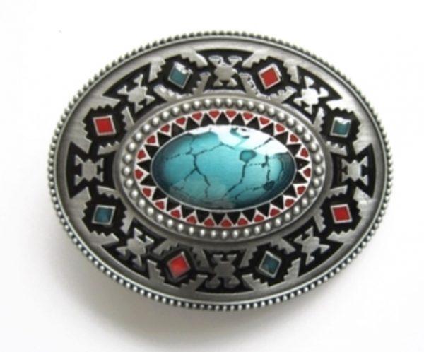 oval enamel celtic belt buckle