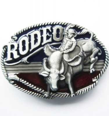 Set of 5 Rodeo CNC metal detail sculptured brushed silver removable belt buckles