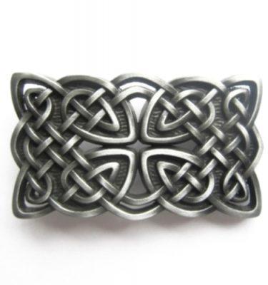 vintage cross celtic knot belt buckle