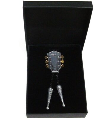 country music bolo tie and braided leather with gift box