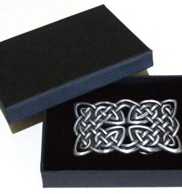vintage cross celtic knot belt buckle with gift box