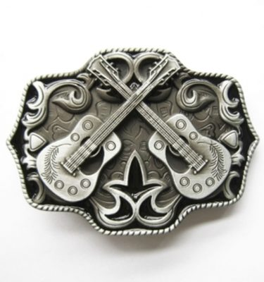 country guitars music belt buckle