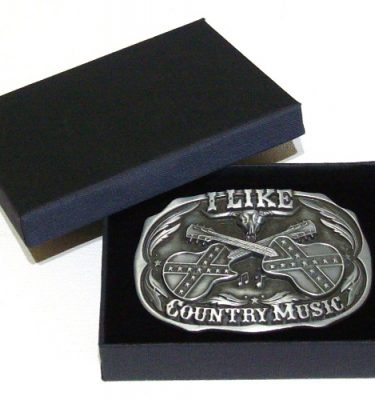 I like country music belt buckle with gift box