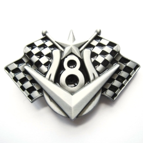 v8 chequered flags belt buckle