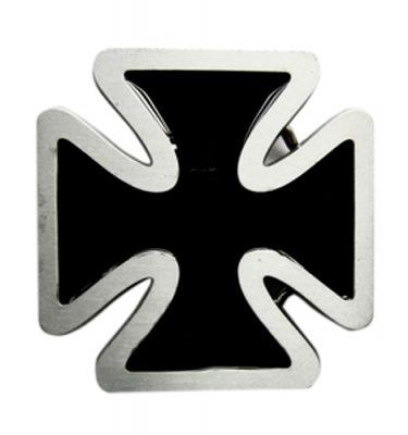 black enamel iron cross belt buckle
