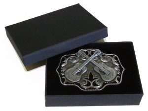 country guitars music belt buckle with gift box