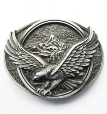 eagle in flight country belt buckle