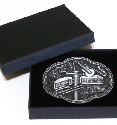 jazz and blues music belt buckle with gift box
