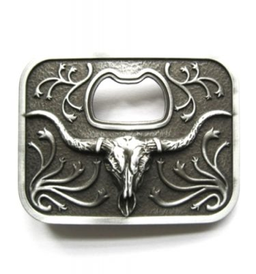 longhorn steer bottle opener belt buckle