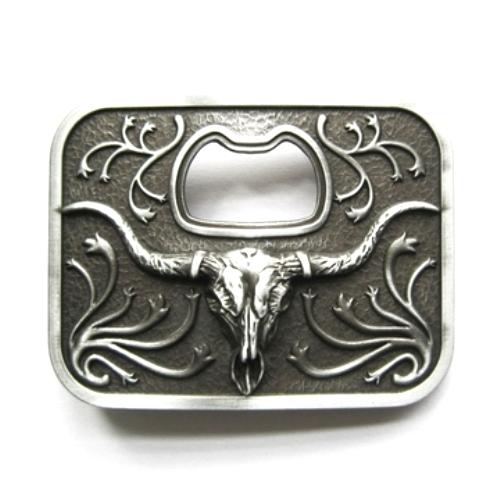 longhorn steer bottle opener belt buckle