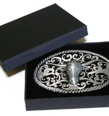 longhorn country belt buckle with gift box