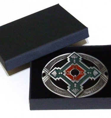 native american cross belt buckle with gift box