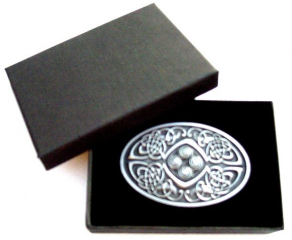 oval celtic phoenix belt buckle with gift box