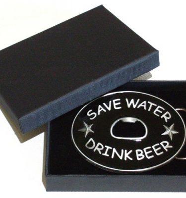 save water drink beer bottle opener belt buckle with gift box