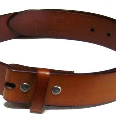 solid classic tan leather belt for removable belt buckles