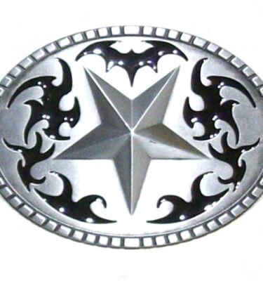 western star brushed silver removable belt buckle